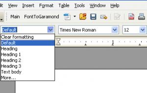 Formatting Commands